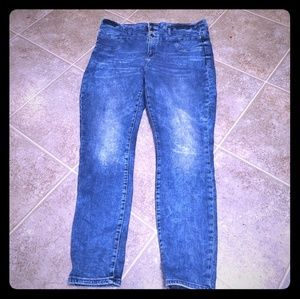 Refugee high rise acid washed plus size Jean's 16